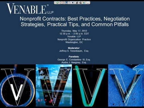 Nonprofit Contracts: Best Practices, Strategies, Practical Tips, and Common Pitfalls - May 17, 2012