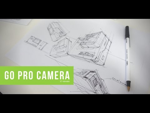 How to draw a GoPro Hero 5 Camera | Product design sketching