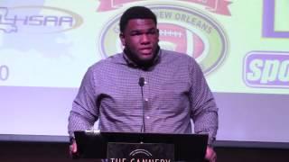 Former LSU DL Marlon Favorite at Greater N.O. QB Club- Nov 10, 2014