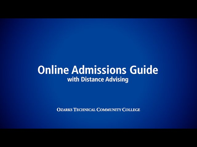 OTC Online Admissions Guide