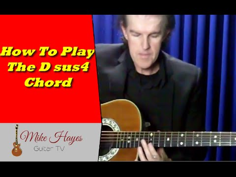 Guitar Chords: How to play the D Suspended 4th chord on Guitar
