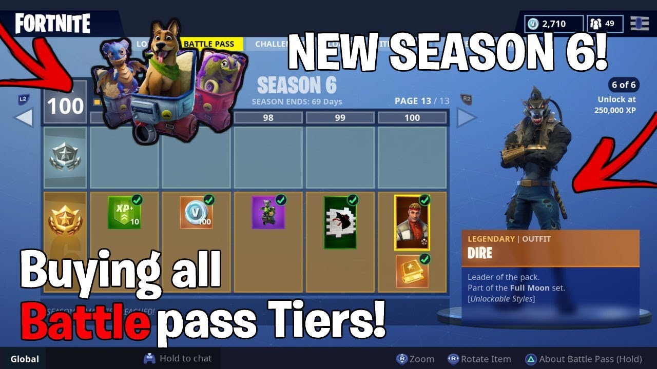 New Buying All Season 6 Battle Pass Tiers Controller Keybinds