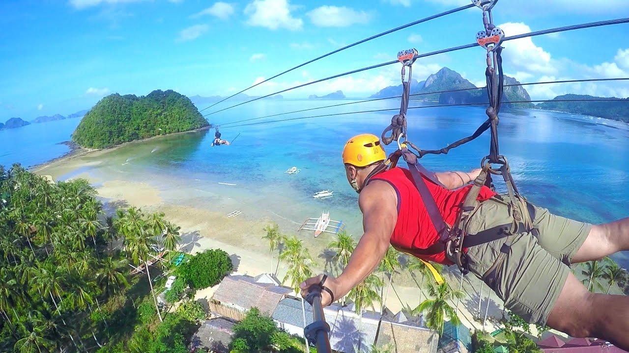 El Nido Palawan Zipline, Philippines - YouTube