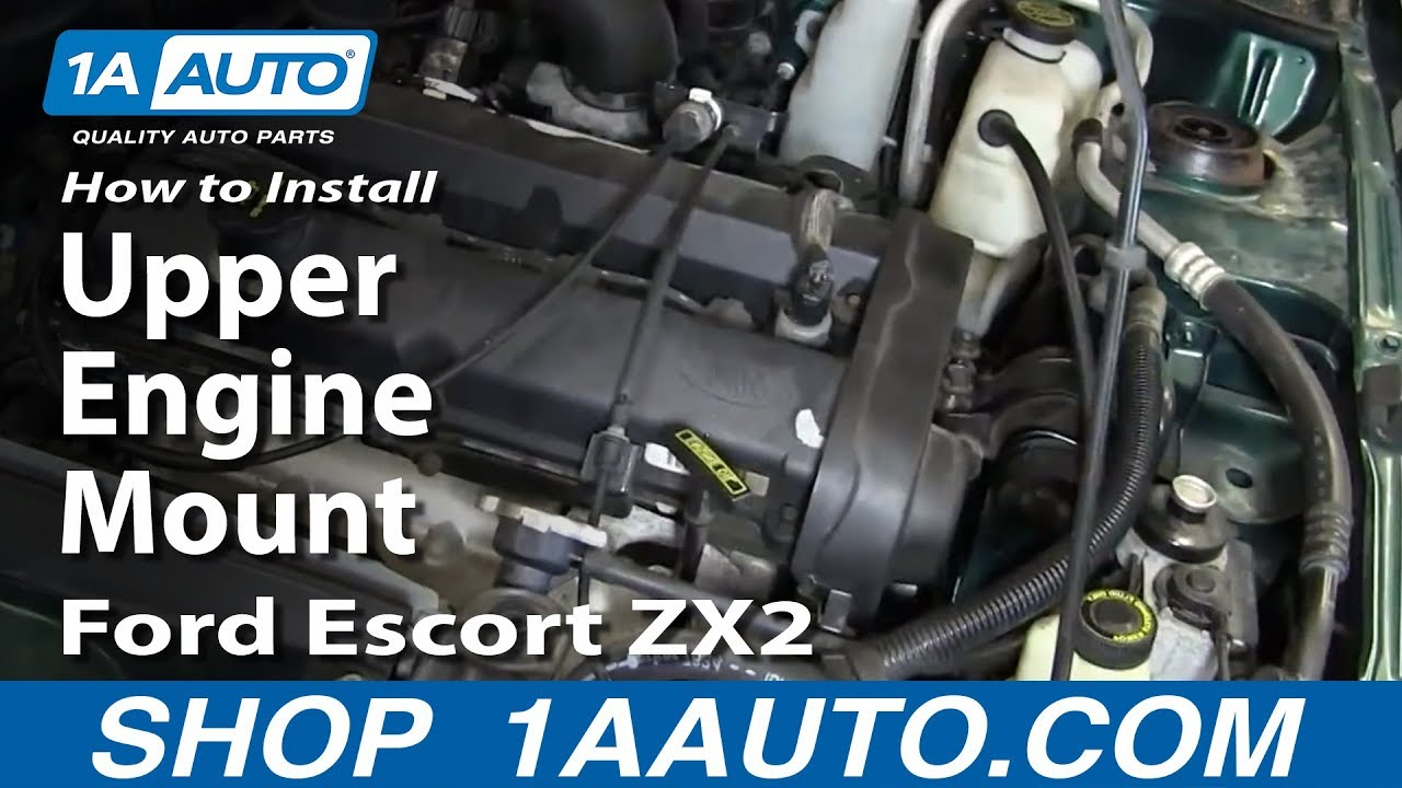 How to Replace Upper Engine Mount 9703 Ford Escort  YouTube