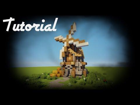 Minecraft: Como hacer un Molino medieval! - Tutoriales construcciones!