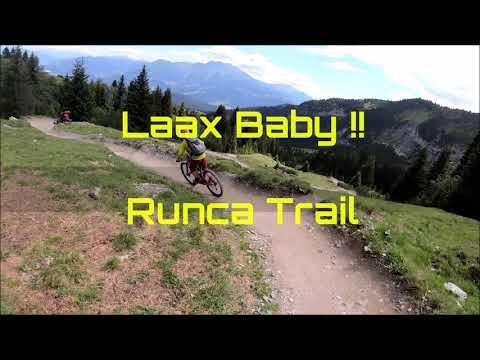 Laax Baby !!  Runcatrail full run