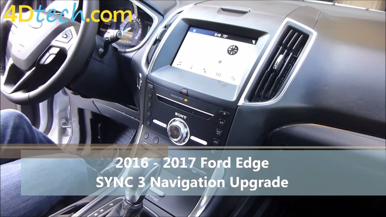 add factory navigation to sync 3 2016 ford edge youtube. Black Bedroom Furniture Sets. Home Design Ideas