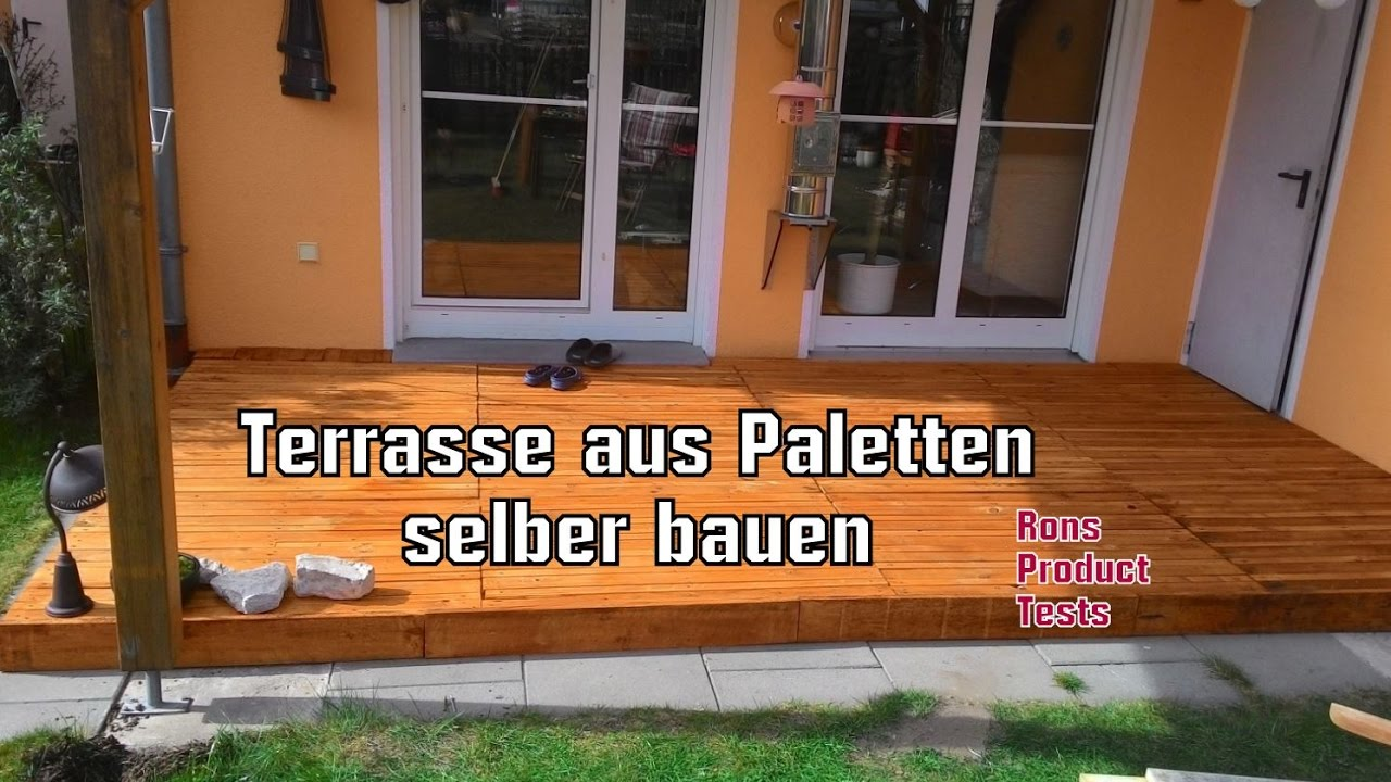 diy holz terrasse aus paletten selber bauen schritt f r. Black Bedroom Furniture Sets. Home Design Ideas