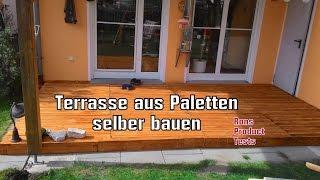 DIY Holz Terrasse aus Paletten selber bauen - Schritt für Schritt Anleitung | Do it yourself