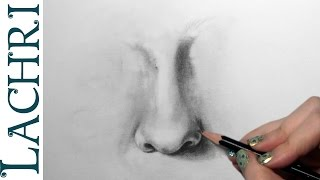 How to draw a realistic nose w/ Lachri