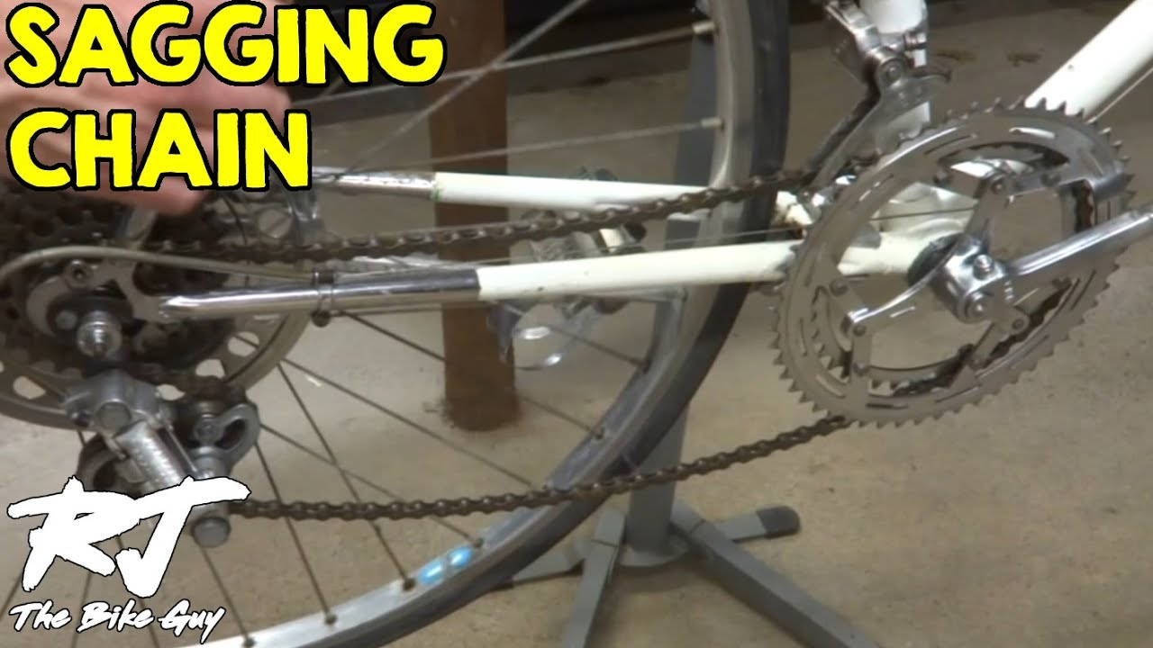 Fixing A Sagging Bike Chain Youtube
