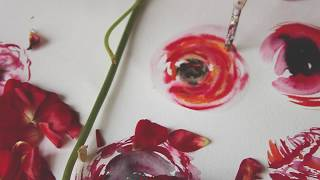 HOW TO FIND YOUR ART STYLE | RANUNCULUS FLOWER PAINTING