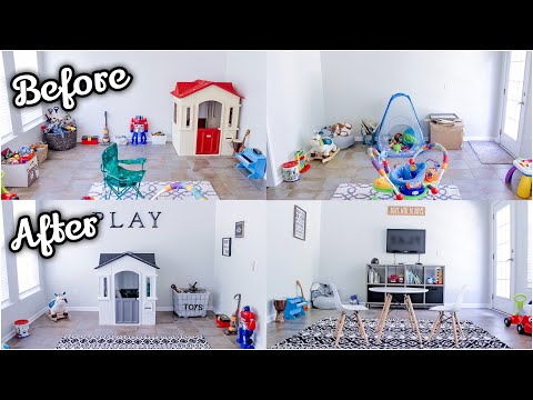 PLAYROOM TRANSFORMATION | PLAYROOM MAKEOVER ON A BUDGET | PLAYROOM TOUR