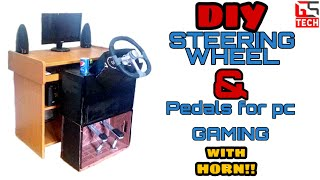 how To Make  Steering wheel and pedals for PC? / Kako napraviti volan i papuice za PC ?
