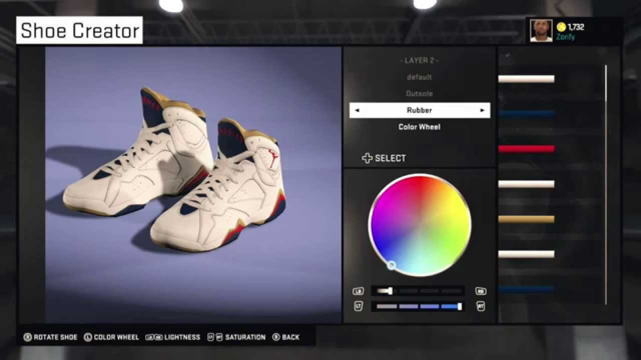 Nba 2k15 Shoe Creator Air Jordan 7 Custom New Orleans Pelicans