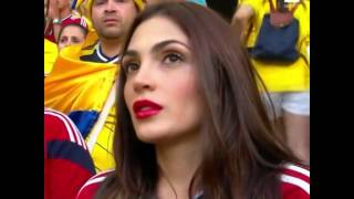 Beautifil and Sexy Colombian Girl supporter | FIFA World Cup Brazil 2014