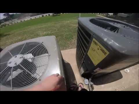 2009 Guardian 5 ton Central Air Conditioner & 2 Goodman Air Conditioners Running!
