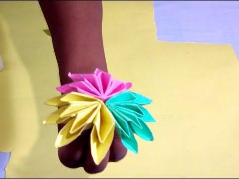 🌹DIY Hand craft paper flower -How to make ➤Reporter Tube Media