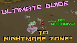 Ultimate Guide for Nightmare Zone no Dharok's! 1m - 1.3m+ Points P/H - For Ironman
