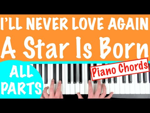 How To Play 'I'LL NEVER LOVE AGAIN' - A Star Is Born (Lady Gaga) | Piano Chords Tutorial