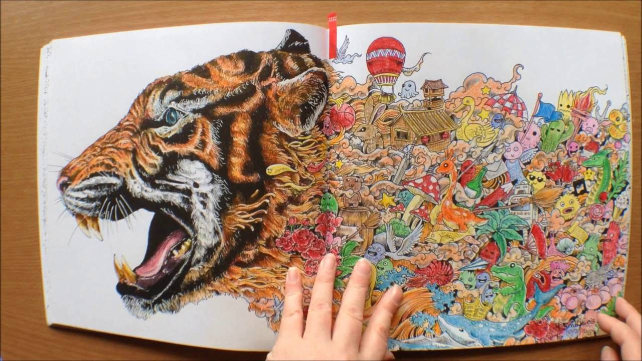 Animorphia By Kerby Rosanes Colouring Book Flipthrough