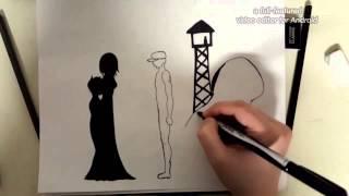 POW-MIA dedication drawing