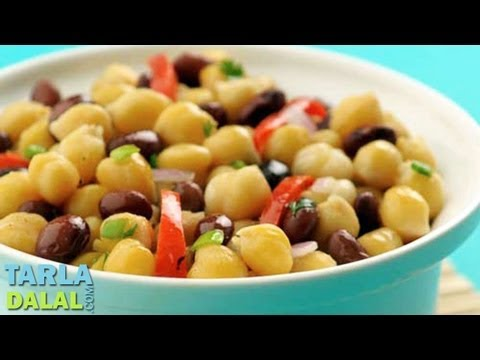 Bean and Capsicum Salad (Protein and Fibre Rich Recipe) by Tarla Dalal