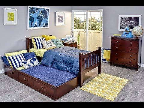 CAMERON HARDWOOD TWIN TRUNDLE BED