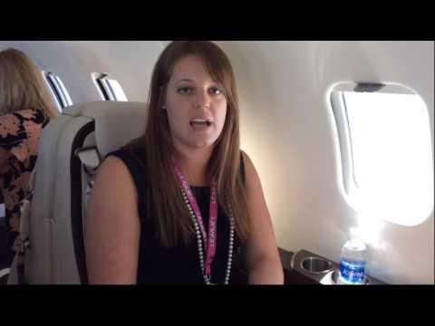 Learjet 75 pocket door