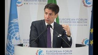 L'intervento del Presidente Conte al Forum europeo sulla riduzione del rischio da disastri