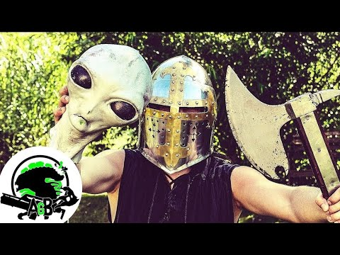 Medieval and Modern Blade Weapons Vs Medieval Aliens! 12 Days of AGB on ZGB!
