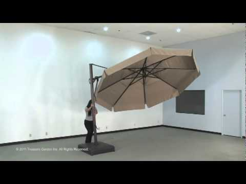 Charmant AKZ13 Cantilever Umbrella. AuthenTEAK Outdoor Living