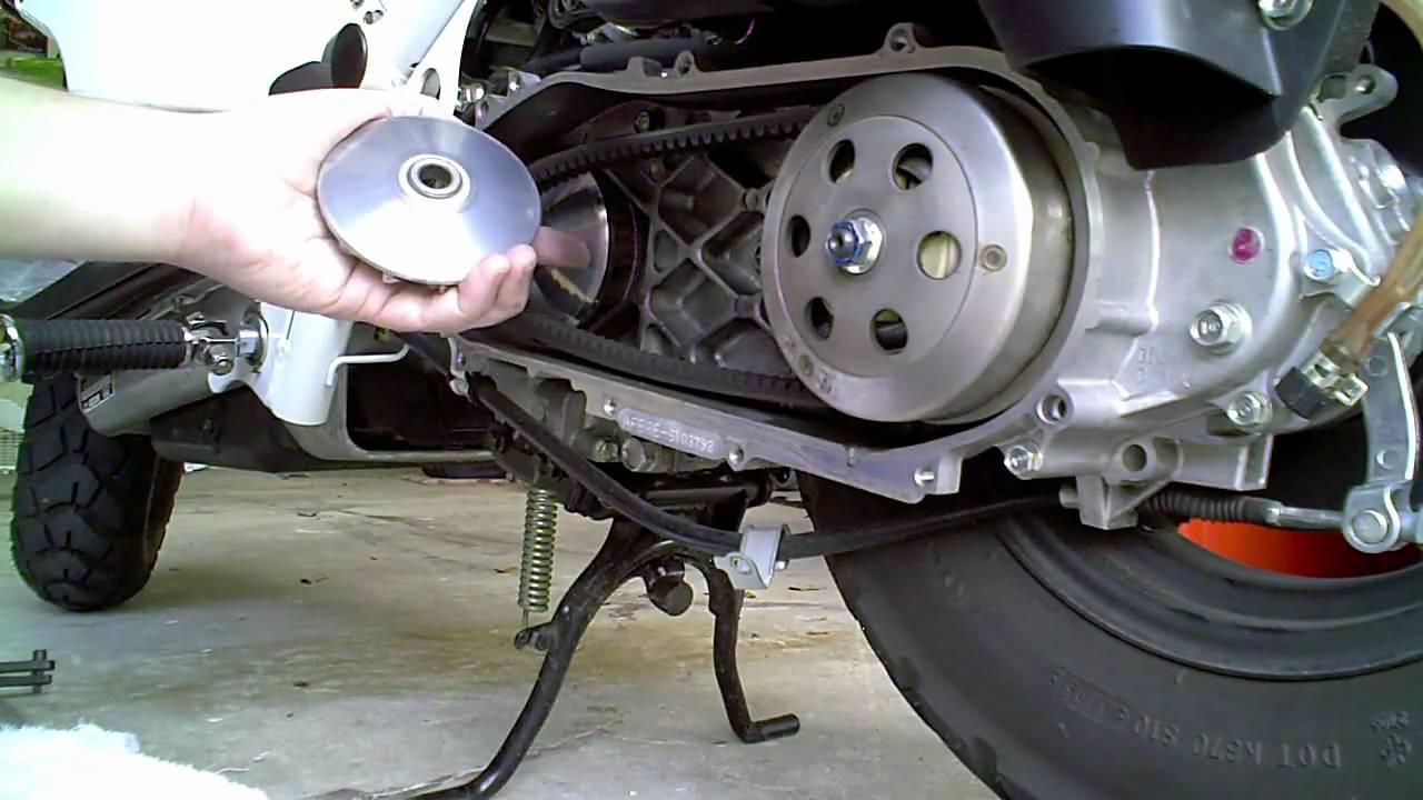 Used Honda Ruckus >> Ruckus Variator Roller Replacement Part 2 - YouTube
