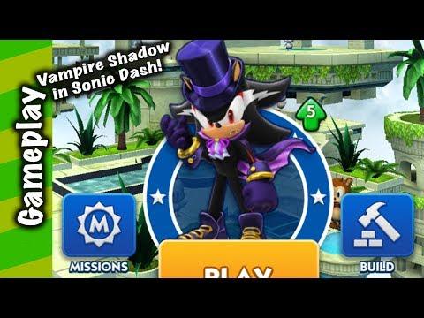 Sonic Dash - Vampire Shadow Gameplay