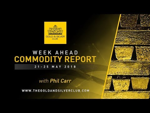 WEEK AHEAD COMMODITY REPORT: MAY 21 - 25, 2018: GOLD, SILVER & OIL PRICE FORECAST
