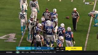 Vernon Butler Ejected after Punching Jack Doyle | NFL | Panthers Vs. Colts 2019