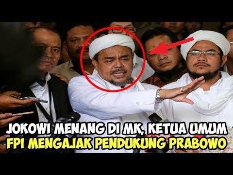 Jokowi Menang di MK, Ketua Umum FPI Mengajak Pendukung Prabowo Lakukan Ini