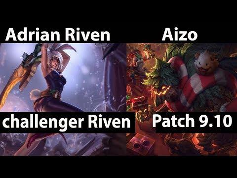 [ Adrian Riven ] Riven vs Maokai [ Aizo ] Top   Adrian Riven Stream Patch 9 10