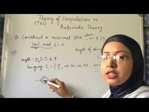 THEORY OF COMPUTATION-AUTOMATA THEORY LEC -4 PROBLEMS BASED ON DFA