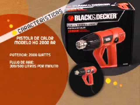 Pistola de calor hg2000 black decker youtube - Pistolas de calor ...
