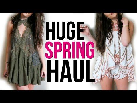 HUGE TRY ON Spring Break Clothing Haul: Free People    Sarah Belle
