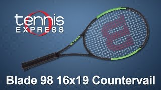 Wilson Blade 98 16x19 Countervail Tennis Racquet Review | Tennis Express