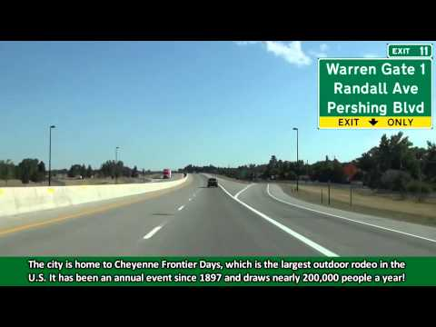 Interstate 25 North in Cheyenne, Wyoming