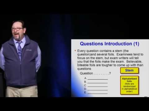 Test Taking Strategies - William Mallon, MD - National Emergency Medicine Board Review Course