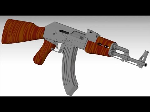 Catia V5- Tutorial :AK47-assault rifle