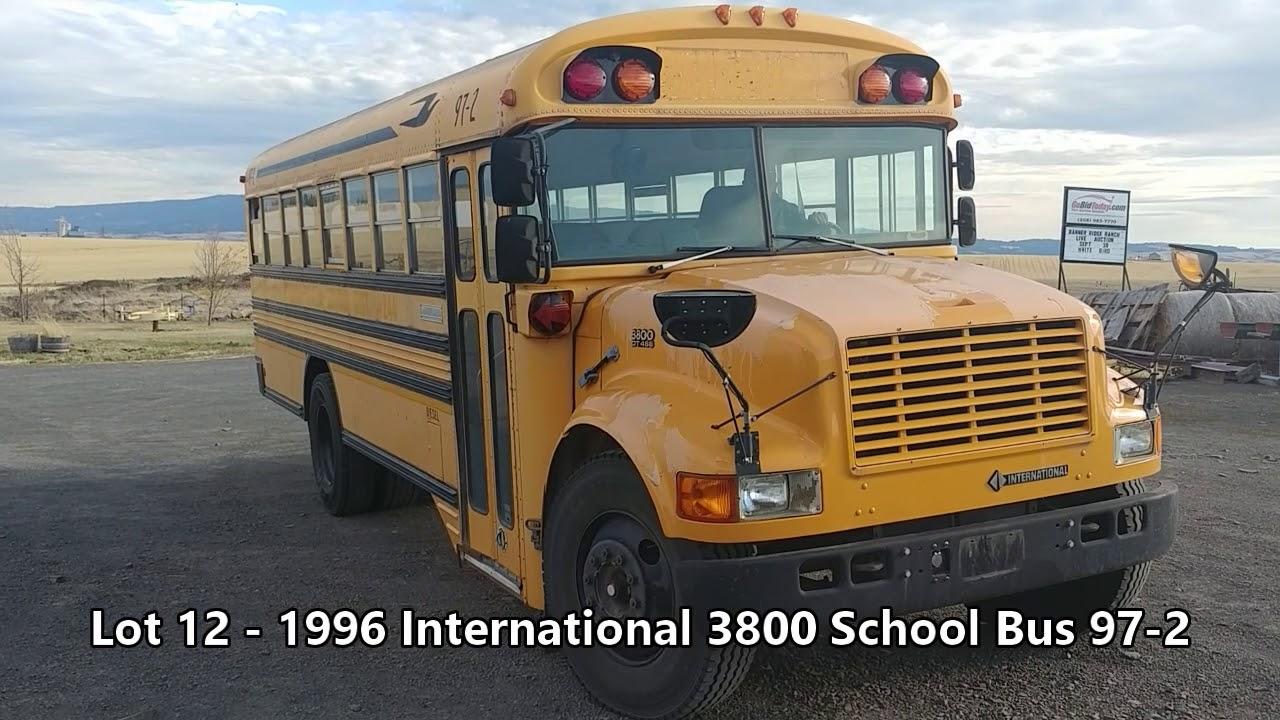 1996 International 3800 School Bus 97-2 For Auction