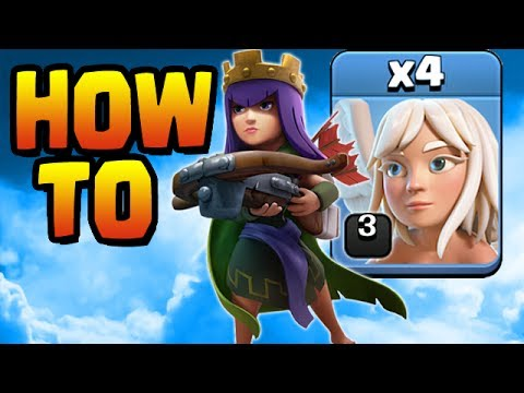 HOW TO BABY QUEENWALK WITH LV3 HEALERS Guide | Let's Play Th9 ep19 | Clash of Clans
