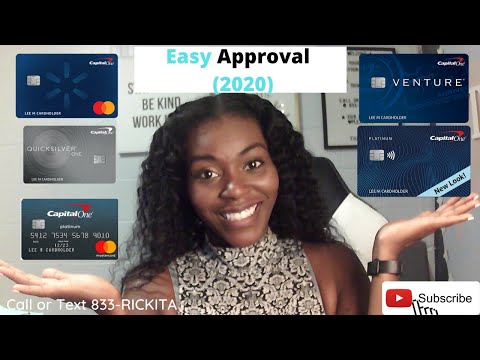 Capital One Credit Card | BEST Credit Cards (2020) | Instant Approval Credit Card Hacks