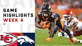Chiefs vs. Broncos Week 4 Highlights | NFL 2018
