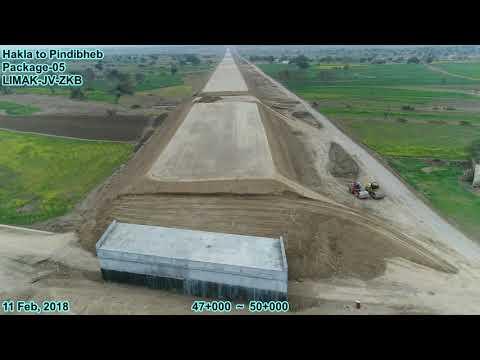 CPEC, Hakla to Pindigheb, Western corridor dt 12 Feb, 2018